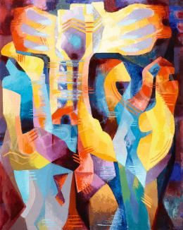 Rafael Győző Viktor - Formák ritmusa (Fény), 1970 körül