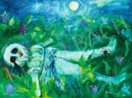 Anna Margit - Eldobott bábu (Hold, pókháló, harangvirág)