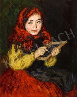 Glatz, Oszkár - Girl from Buják, 1922