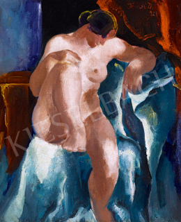 Jándi, Dávid - Nude with Red Drapery, 1926