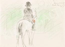 Vaszary János - Római lovas a Monte Pincio domb parkjában, 1926