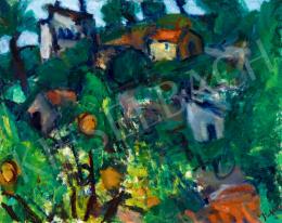 Czóbel Béla - Dél-francia táj narancsfával, Cagnes, 1936-37