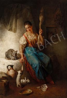 Molnár, József - Girl Spinning, 1884