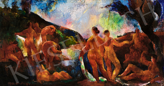 Aba-Novák, Vilmos - Bathing Women, 1924 | 57th Winter Auction auction / 228 Item