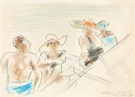 Vaszary János - Olasz tengerparton (Alassioi strandon), 1922 festménye