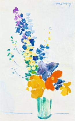 Vaszary János - Japán csendélet (Műtermi csendélet virágokkal), 1938 körül