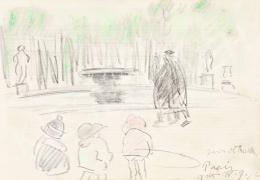 Vaszary János - Párizsi parkban (Jardin des Tuilleries), 1925
