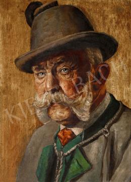 Ismeretlen osztrák festő 1910 körül - Ferenc József vadászruhában