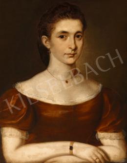 Ismeretlen magyar festő 1860 körül - Női arckép