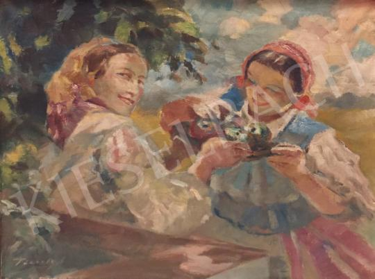Péczely, Antal - Girls painting