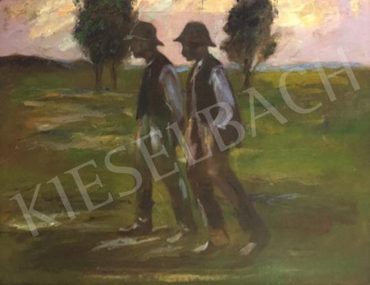 Kernstok Károly - Hazafelé festménye