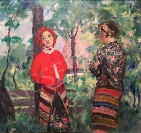 Csók István - Sokác lányok festménye