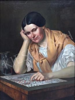 Molnár József - Kártyázó hölgy