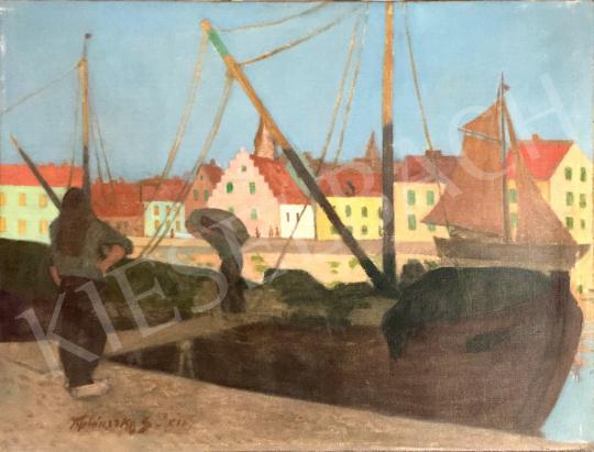 For sale Teplánszky, Sándor - Harbor 's painting