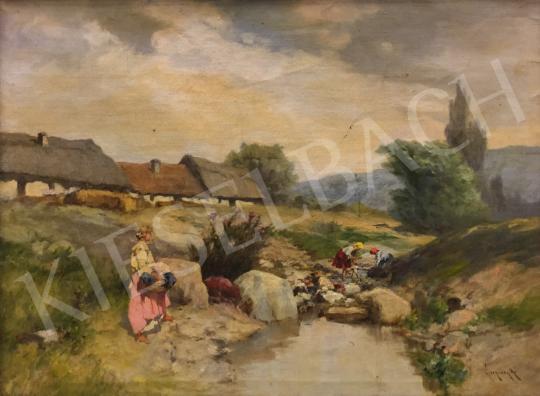 Eladó Neogrády Antal - Patakparton festménye
