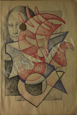 Gábor Jenő - Hullámos és szögletes formák, 1967