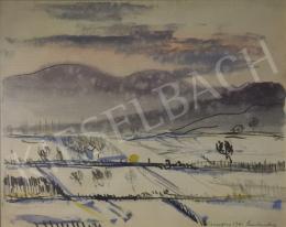 Cserepes István - Havas táj a szentendrei dombok előtt, 1941