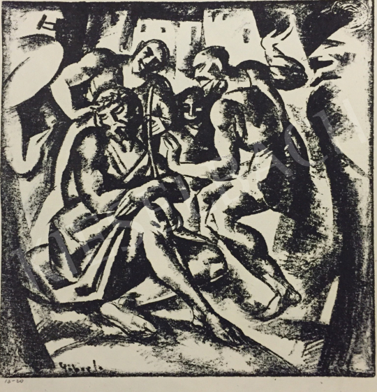 Eladó  Gábor Jenő - Krisztus megostorozása festménye