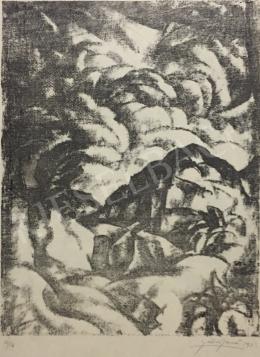 Gábor Jenő - Dombos táj, 1923