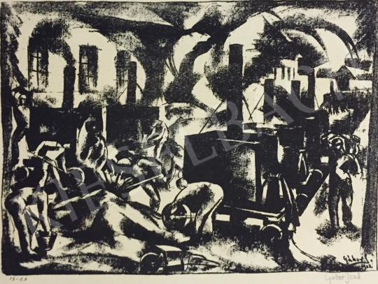 Eladó  Gábor Jenő - Gyár, 1922 festménye