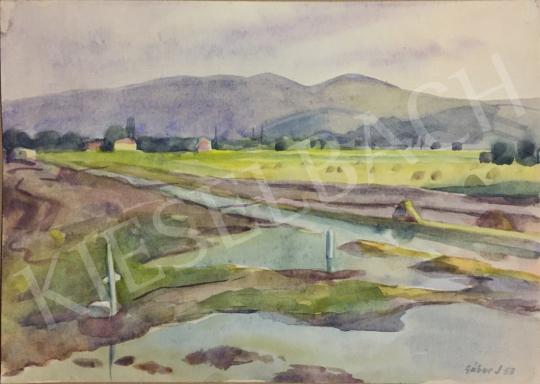 Eladó  Gábor Jenő - Mocsaras táj, 1958 festménye