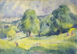 Gábor, Jenő - Outside (In the Grove), 1924