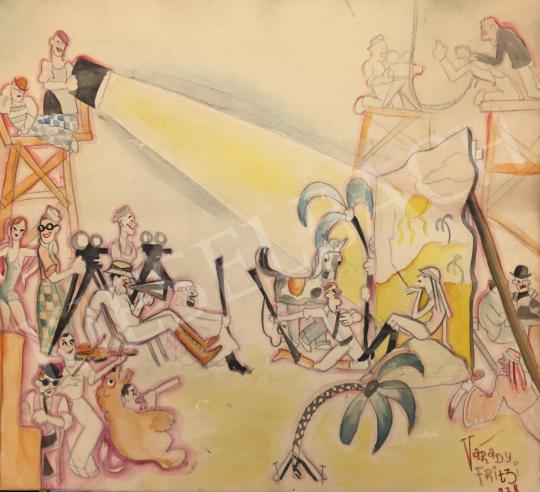 Eladó  Várady Frigyes - Forgatás, 1928 festménye