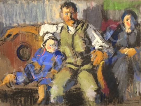 Eladó  Ruzicskay György - Család festménye