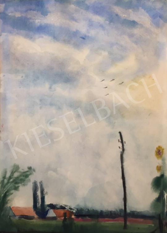 Eladó Ősz Dénes - Kék égbolt festménye