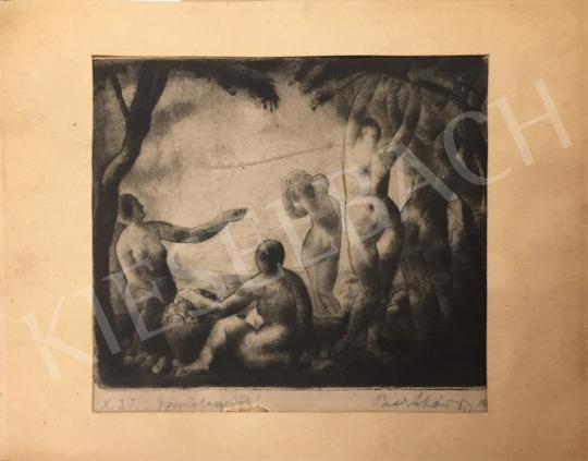 Patkó Károly - Gyümölcsszedők festménye