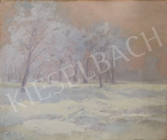 For sale Kézdi-Kovács, László - Blurred Lights in the Winter Forest (Silence) 's painting