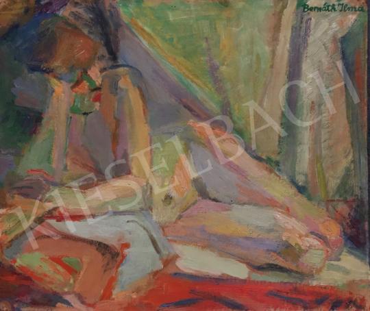 Bernáth Ilma - Fekvő női akt festménye