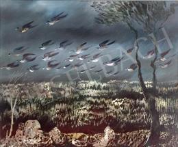 Molnár C. Pál - Szürrealista táj madarakkal