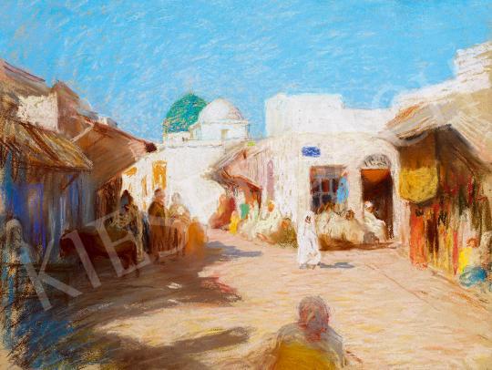 Iványi Grünwald Béla - Tuniszi utca festménye