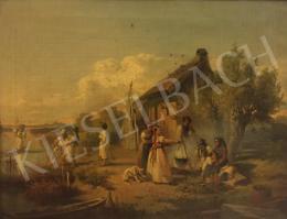 Valentiny János - Halászcsalád - A Folyóparton című festménnyel együtt: 1 465 000 Ft