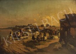 Valentiny János - Folyóparton - A Halászcsalád című festménnyel együtt: 1 465 000 Ft