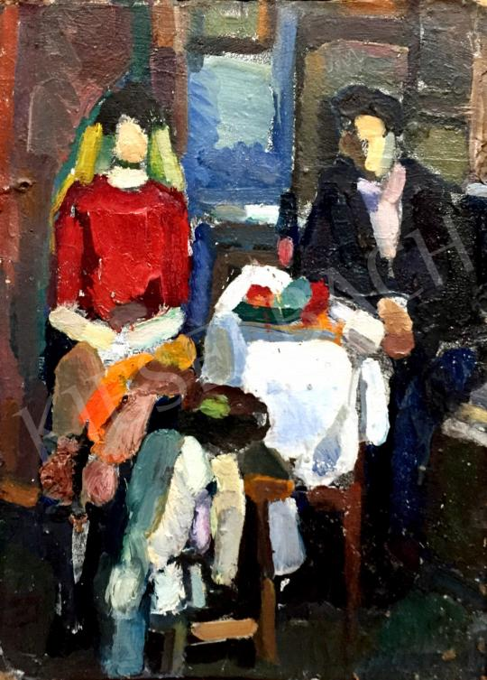 Gruber Béla - Az ifjú pár festménye