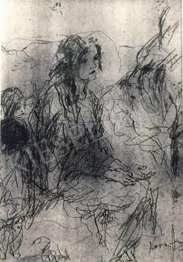 Náray Aurél - Lány két gyerekkel