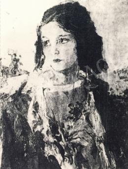 Náray Aurél - Lány portré