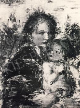 Náray Aurél - Lány gyermekkel