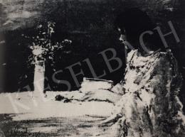 Náray Aurél - Olvasó lány