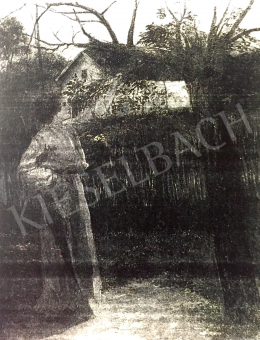 Náray Aurél - Nő a kertben