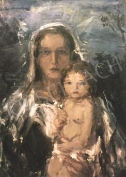Náray Aurél - Mária a gyermek Jézussal