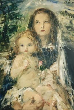 Náray Aurél - Mária gyermekkel