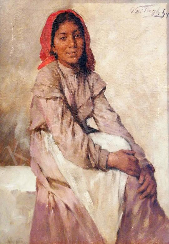 For sale Vastagh, György - Girl with a Red Kerchief 's painting