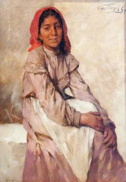 Vastagh, György - Girl with a Red Kerchief