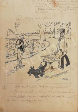 Caricaturist Béla Mocsay -