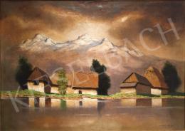 Szepesi Kuszka Jenő - Házak a tóparton