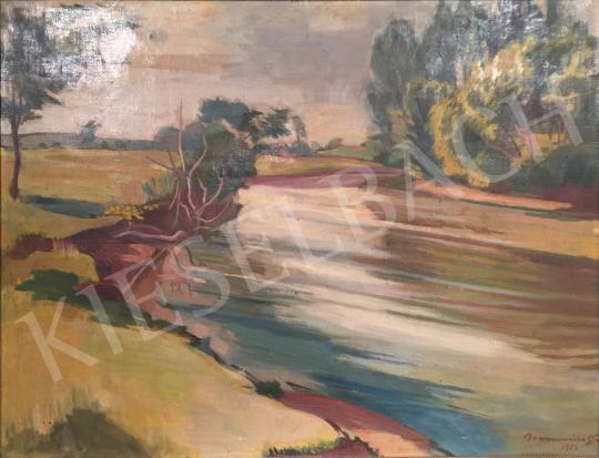 Eladó Bornemisza Géza - Nyári folyópart, 1952 festménye