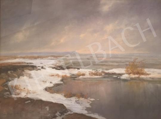 Major Jenő - Télutó a Balatonnál festménye